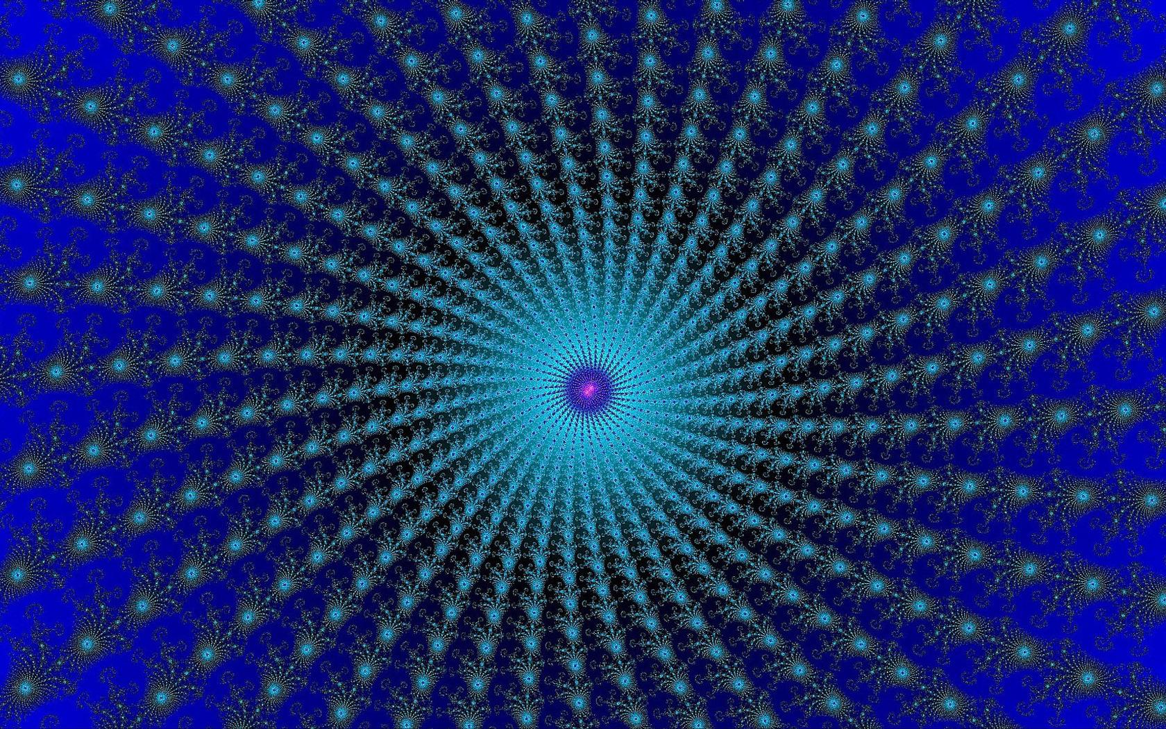 Blue vortex wallpaper 12167 1680x1050