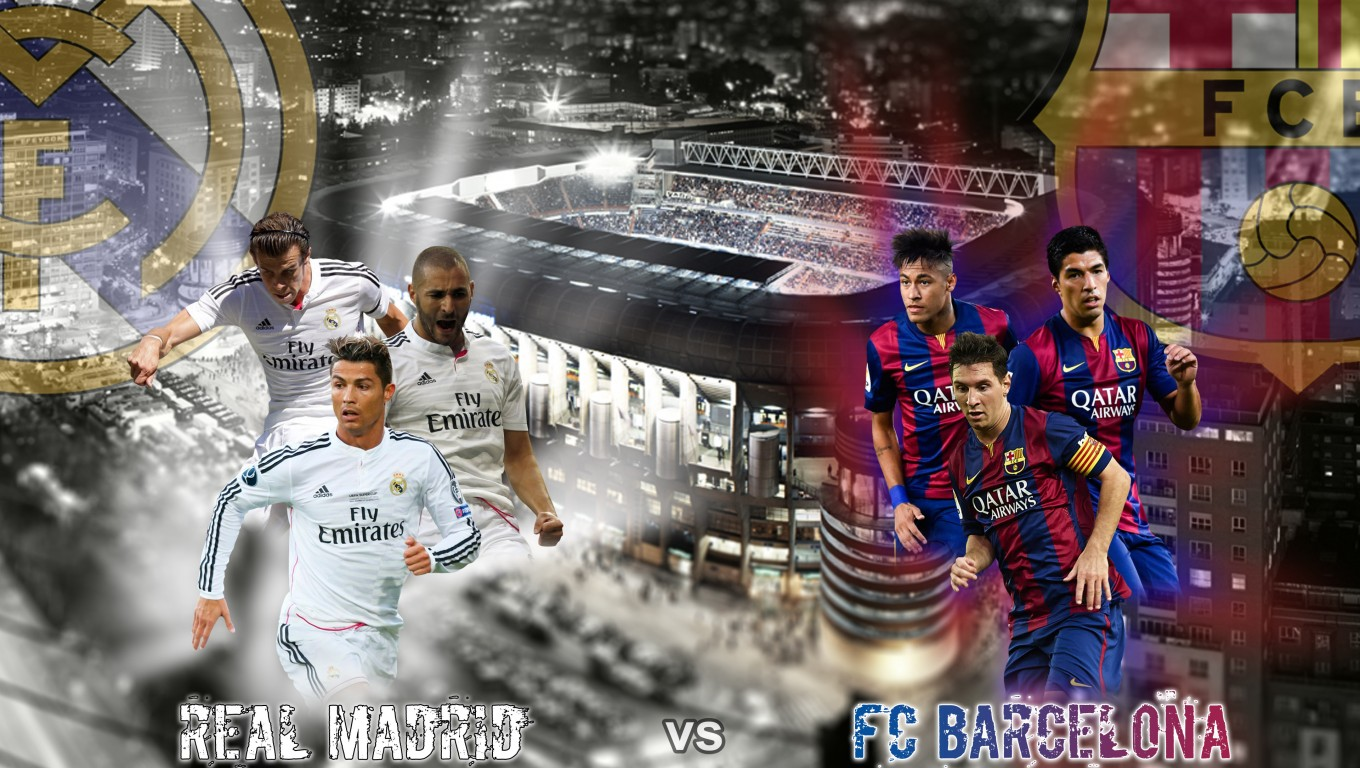 Real Madrid Vs FC Barcelona 2015 Liga BBVA HD Wallpaper 1024x578 Real 1360x768