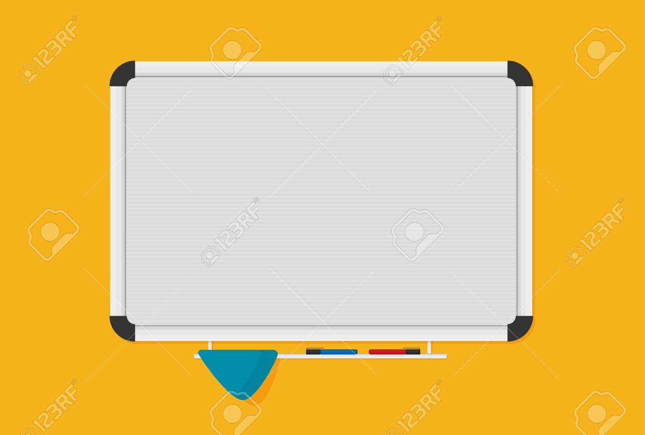Whiteboard Background Frame With Marker Vector Illustration 1300x878
