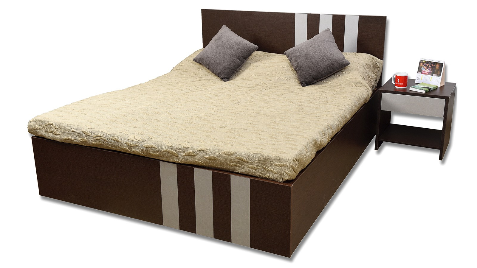 Avena Queen Size Storage Bed with Mattress and Side Table 1600x900