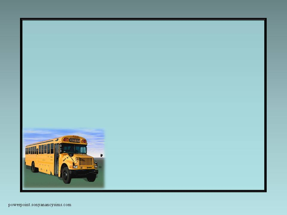 Fun School Background For Powerpoint School Bus on Blue Background 960x720