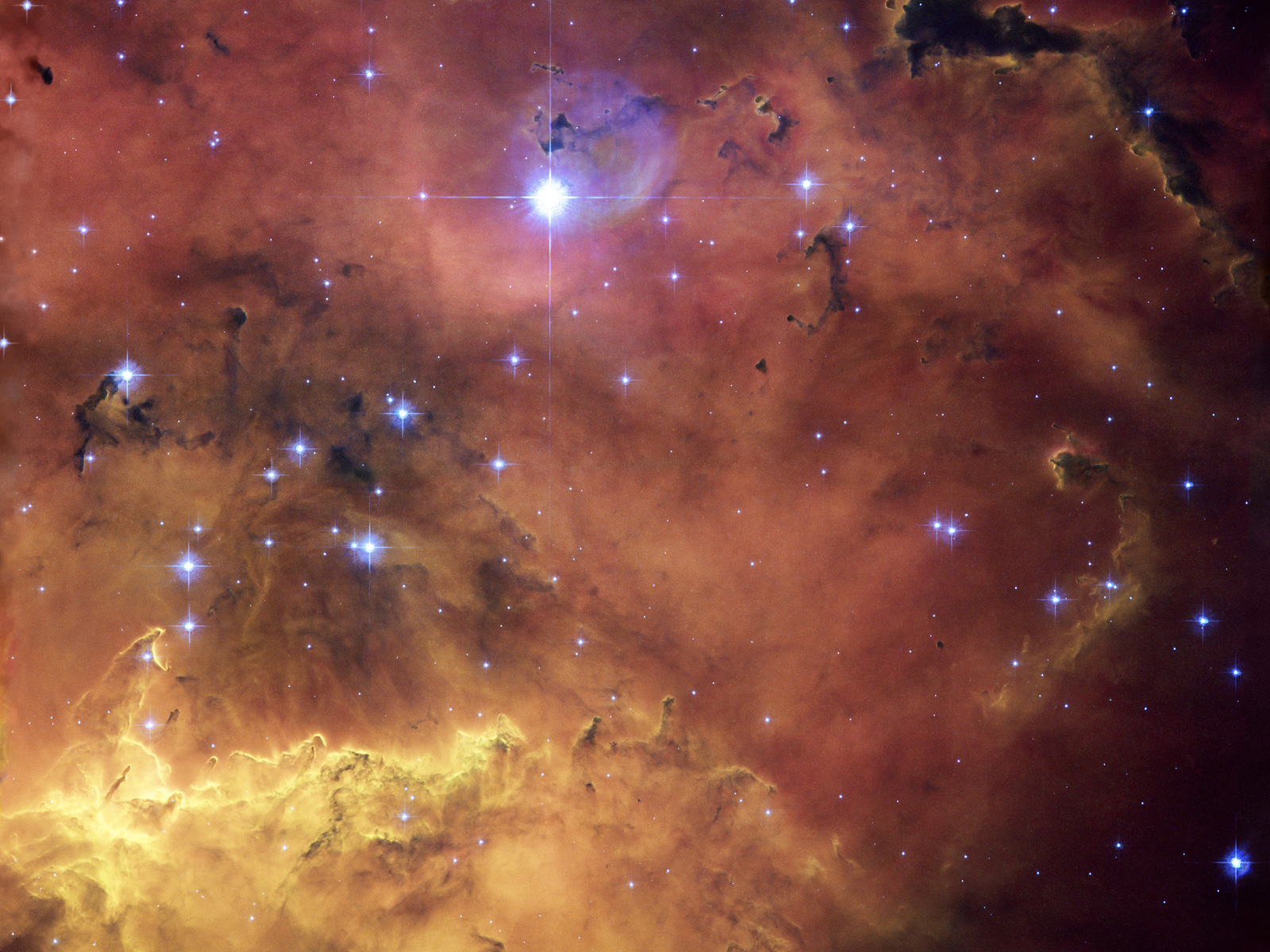 A cosmic concoction in NGC 2467 ESAHubble 1600x1200