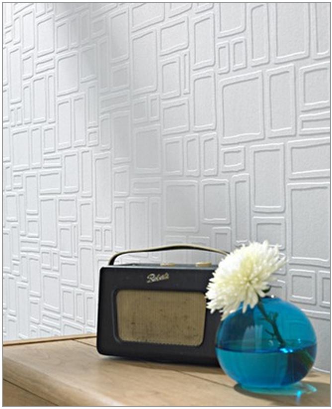 Mondo Retro Geometric Paintable Wallpaper [RTO 34610] Designer 668x822