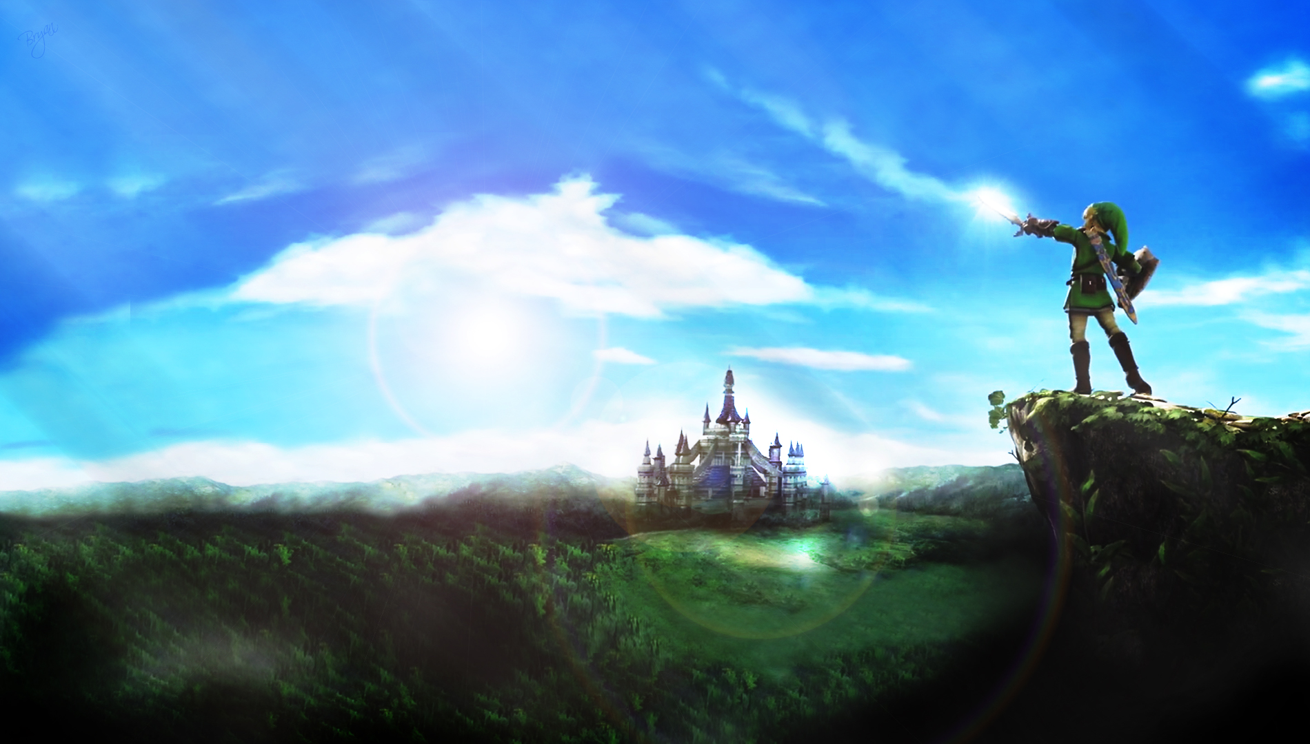 Hd wallpaper zelda - Zelda Wallpaper Mountain Full Hd By Bryansonata Fan Art Wallpaper
