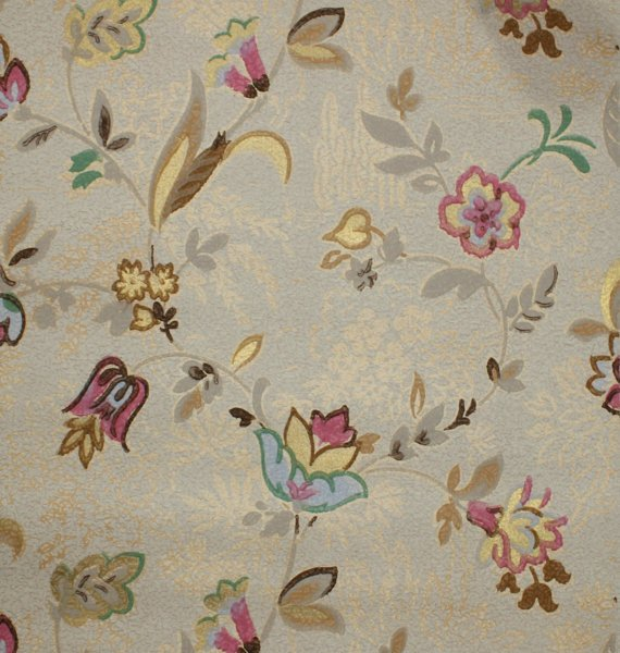 1930s Vintage Wallpaper   Antique Floral with Art Nouveau Flowers of 570x600