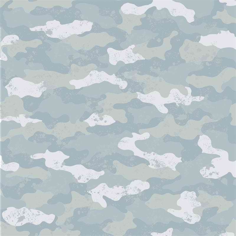 Free Download Blue Camouflage Wallpaper Baby Nursery Kids