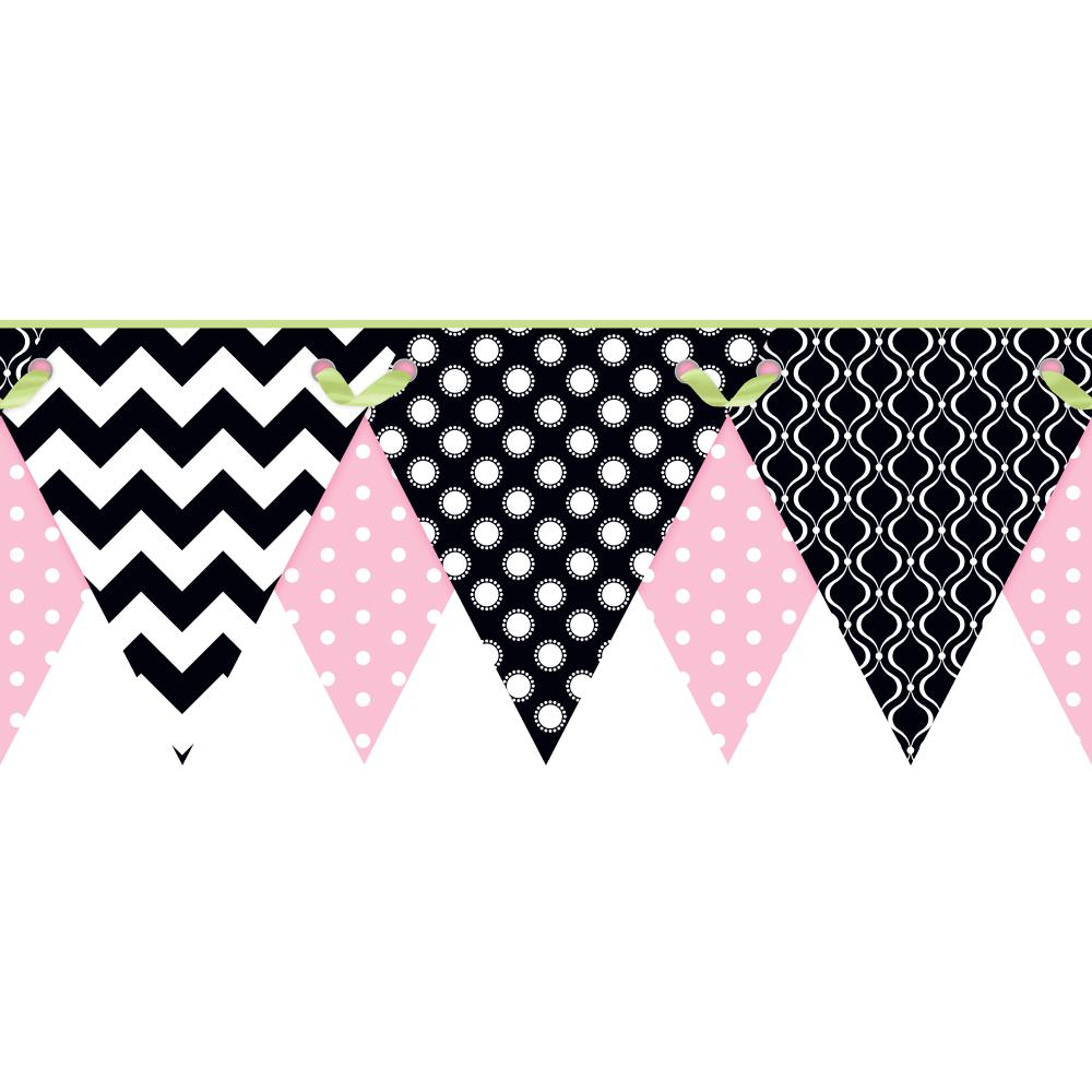 Kids Geometric Pennant Border   Wallpaper Border Wallpaper inccom 1000x1000