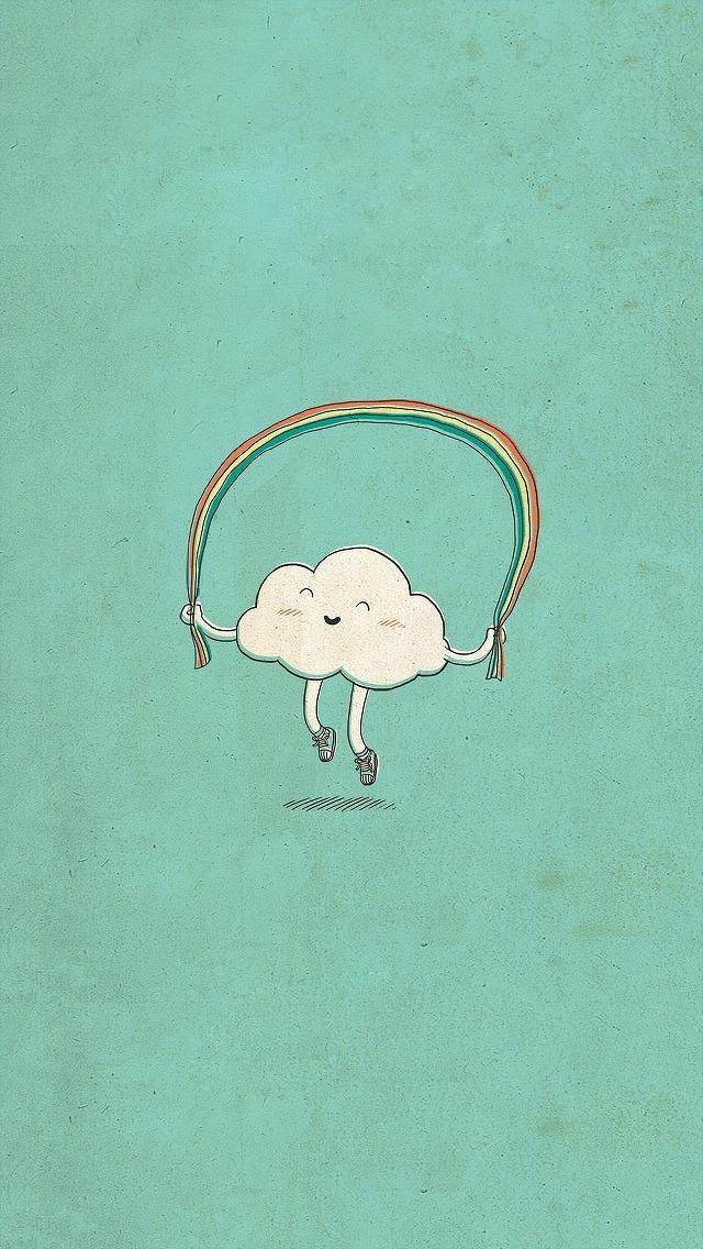 Cute Cartoon Cloud Wallpaper   iPhone Wallpapers 640x1136