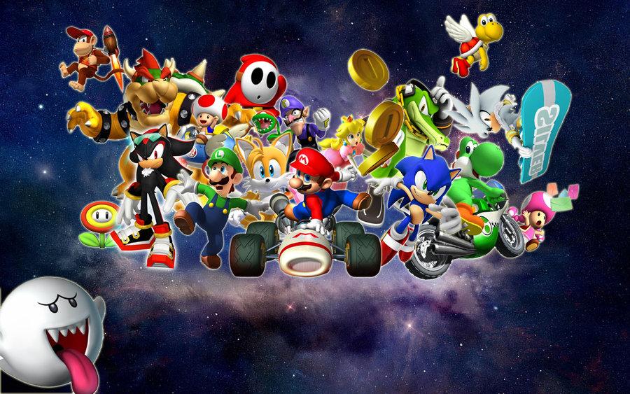 Sonic And Mario Wallpaper Wallpapersafari