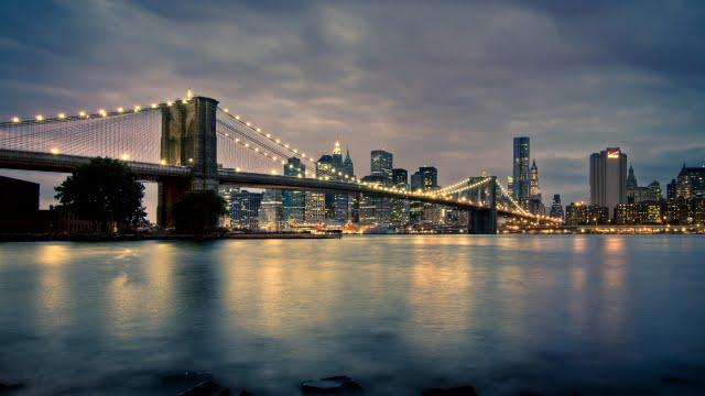 New York at night Wallpaper Walltor 640x360