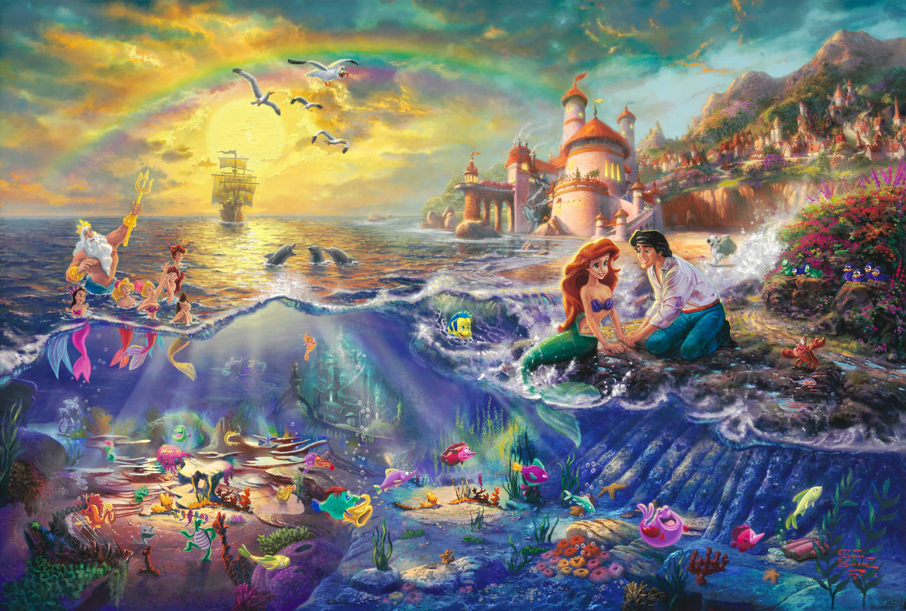 disney pictures princess ariel neptune wallpapers photos pictures 3000x2024