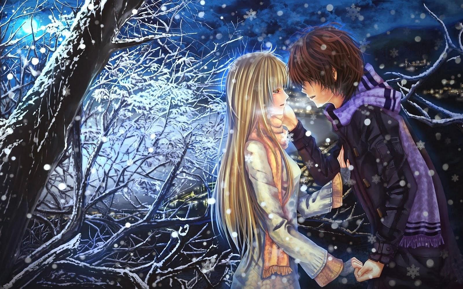 Anime Emo Couples Hugging 1600x1000