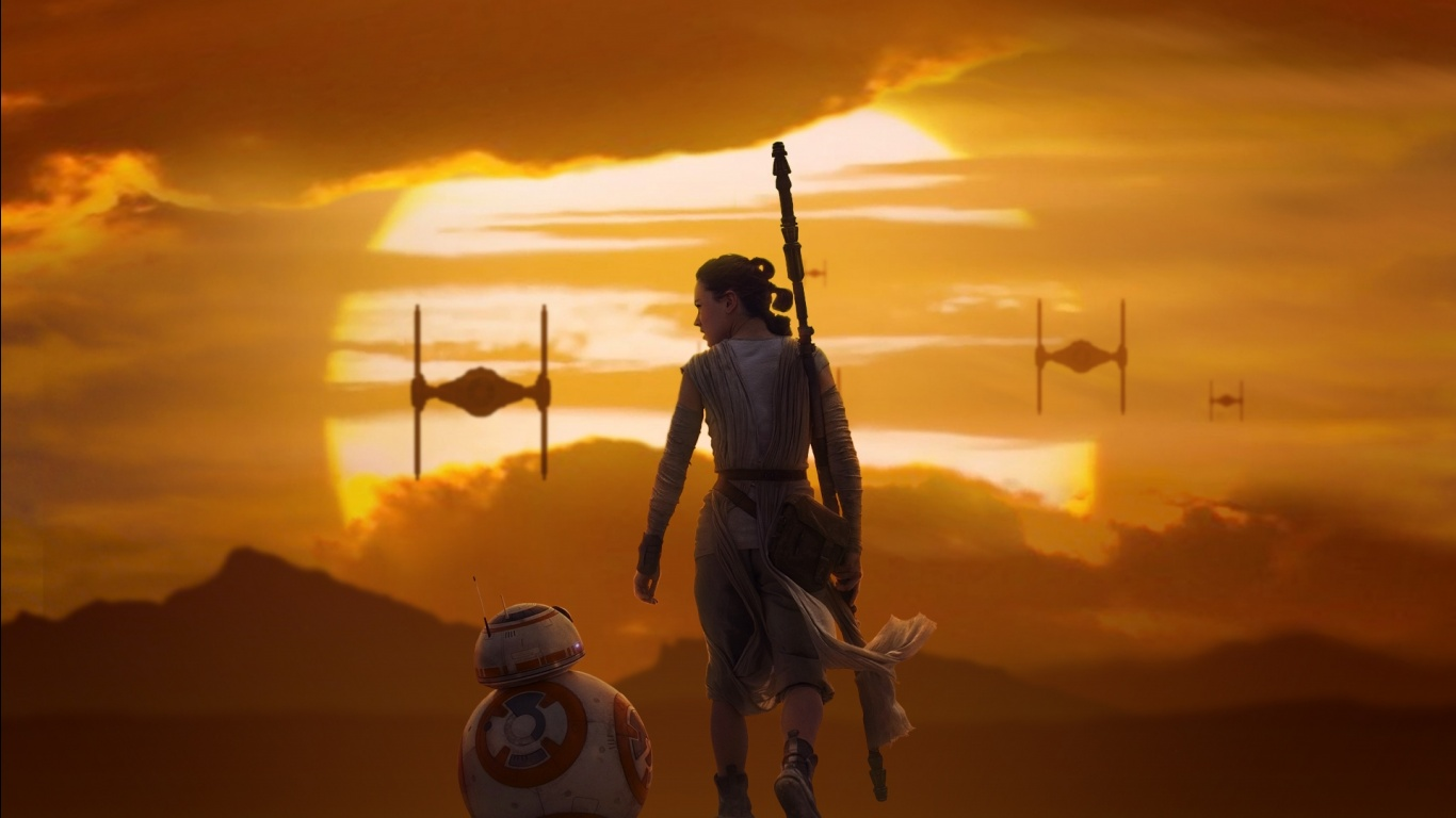 Star Wars Episode VII The Force Awakens Movie Poster 1366x768