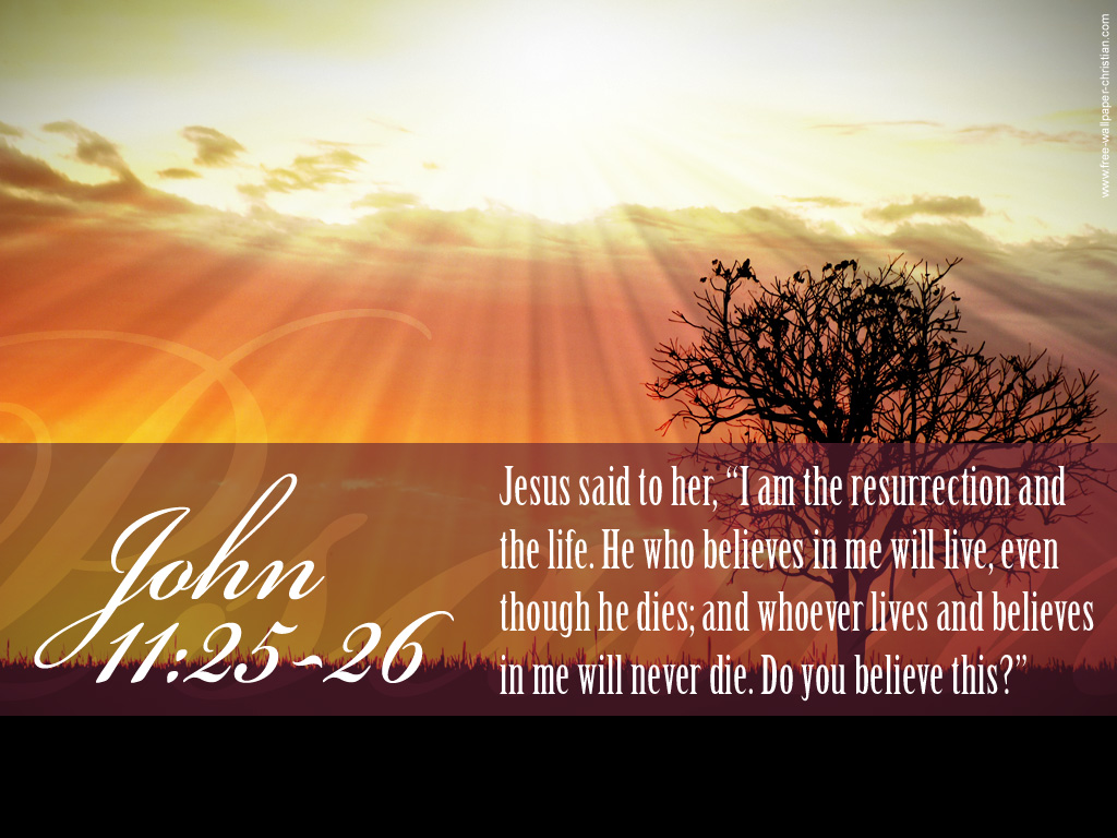 John 1125 26 The Resurrection And The Life Wallpaper Background 1024x768