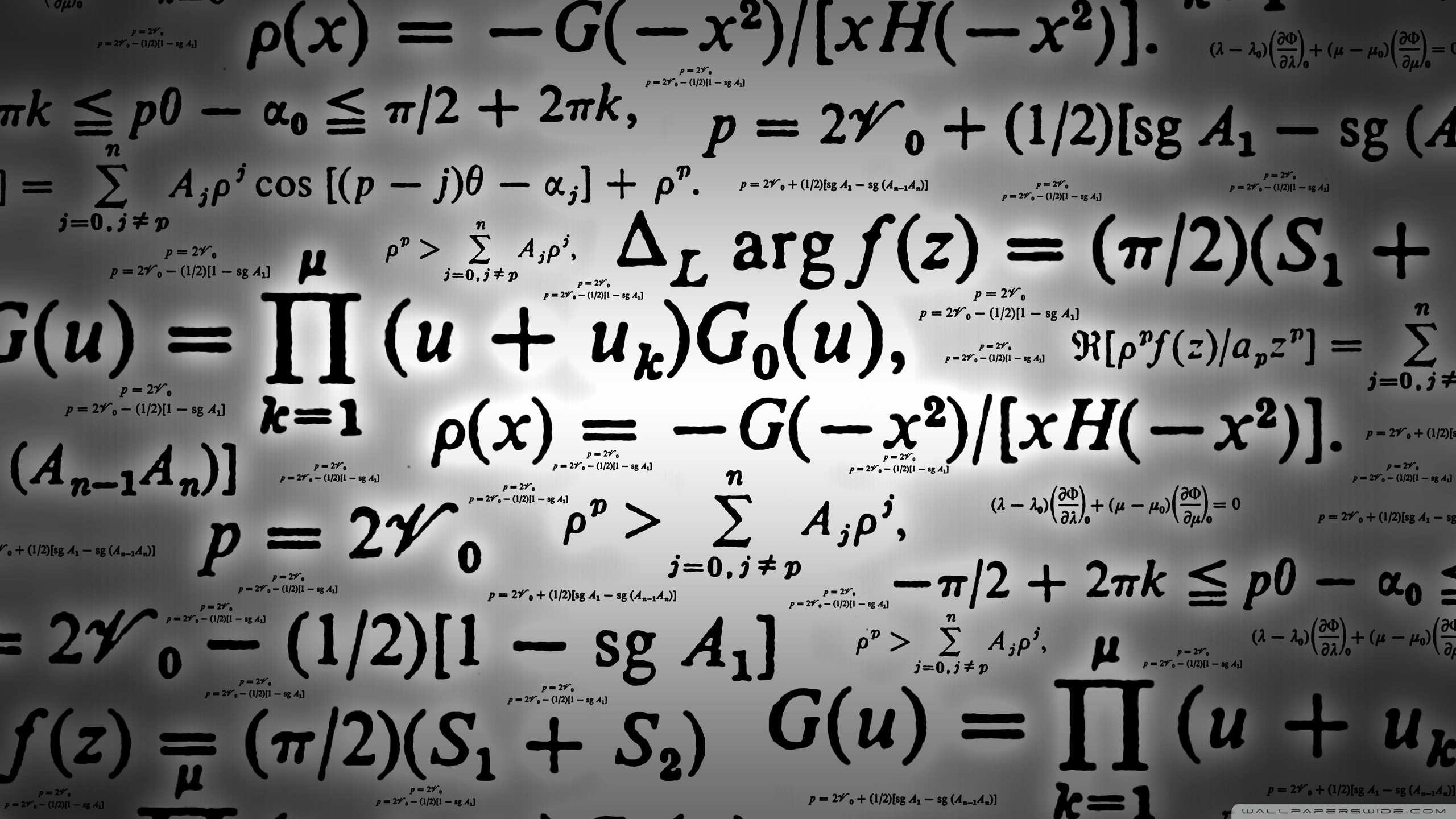 Mathematics 4K HD Desktop Wallpaper for 4K Ultra HD TV 2560x1440