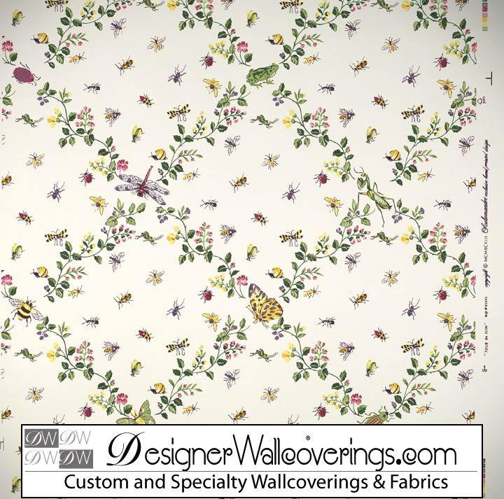 Bug Trellis Lattice Wallpaper [PAL 42080] Designer Wallcoverings 720x713