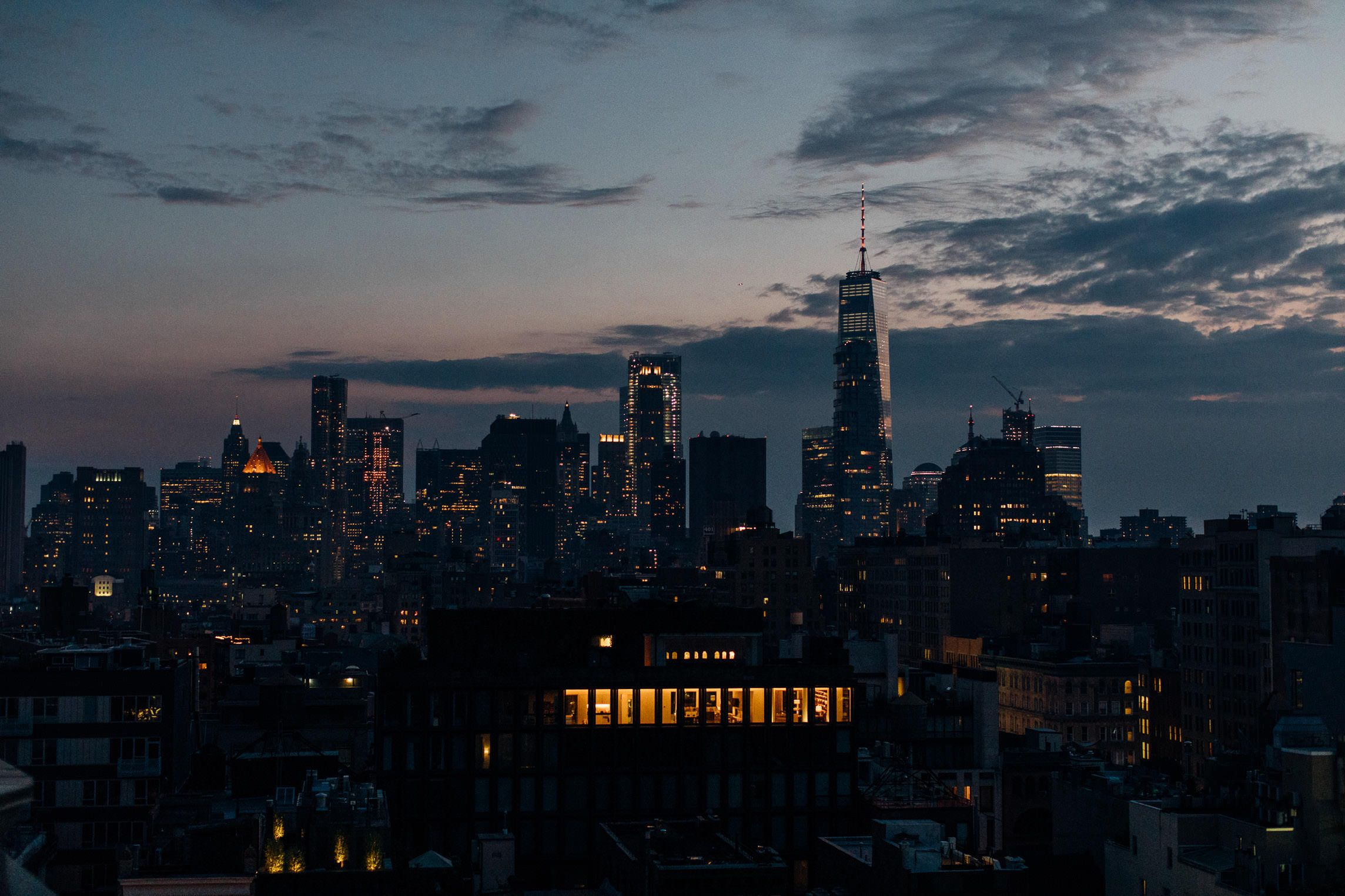 Downtown New York City Skyline at Sunset NYC Sunset Fine Etsy in 2288x1525
