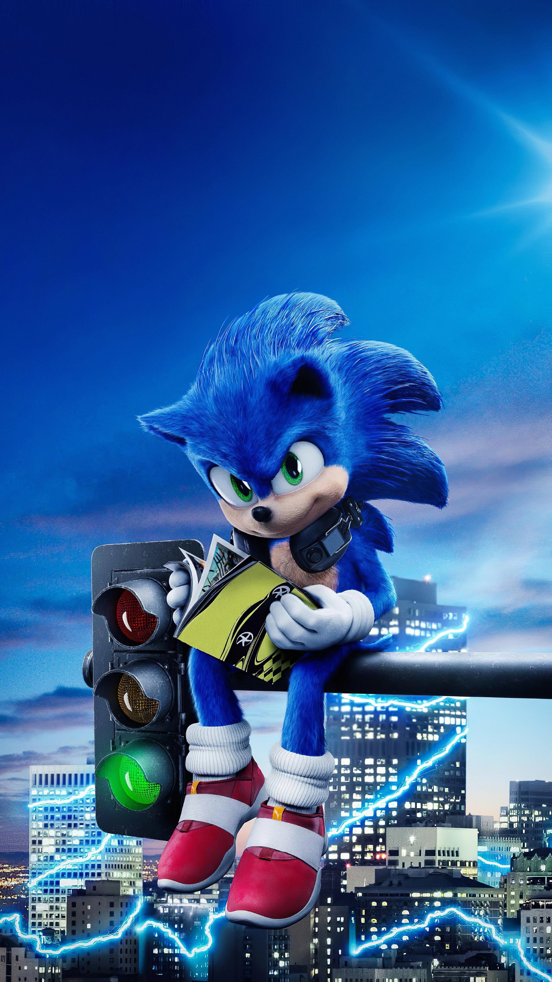 Sonic the Hedgehog Movie Poster 2020 4K Wallpaper 51447 2160x3840