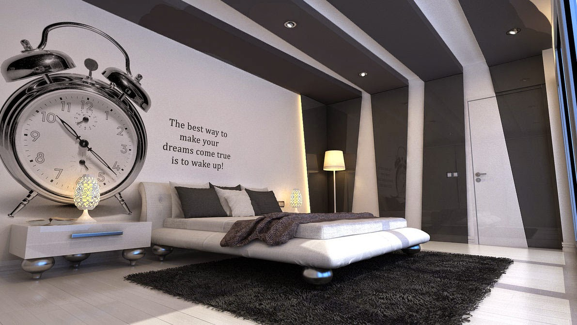 Black and White Bedroom Wallpaper   Decor IdeasDecor Ideas 1191x670