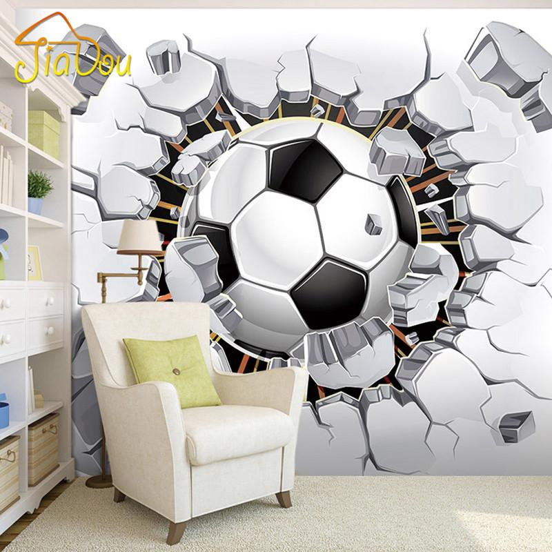 Wholesale 3D Soccer Wallpaper Sport Background Mural Living Room 800x800