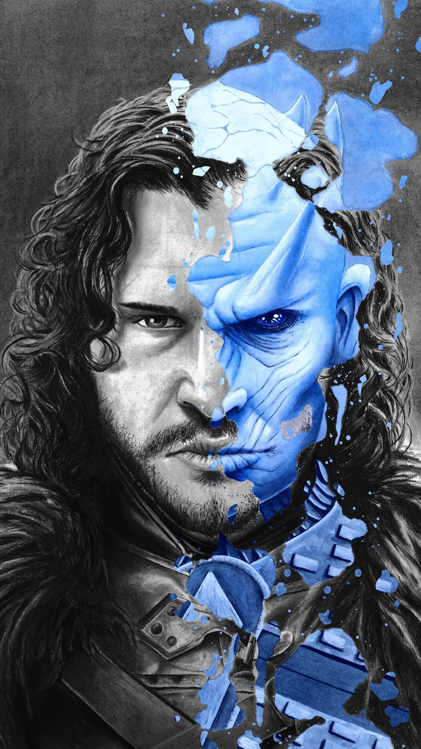 Free Download Game Of Thrones Wallpaper Jon Snow Night Kind