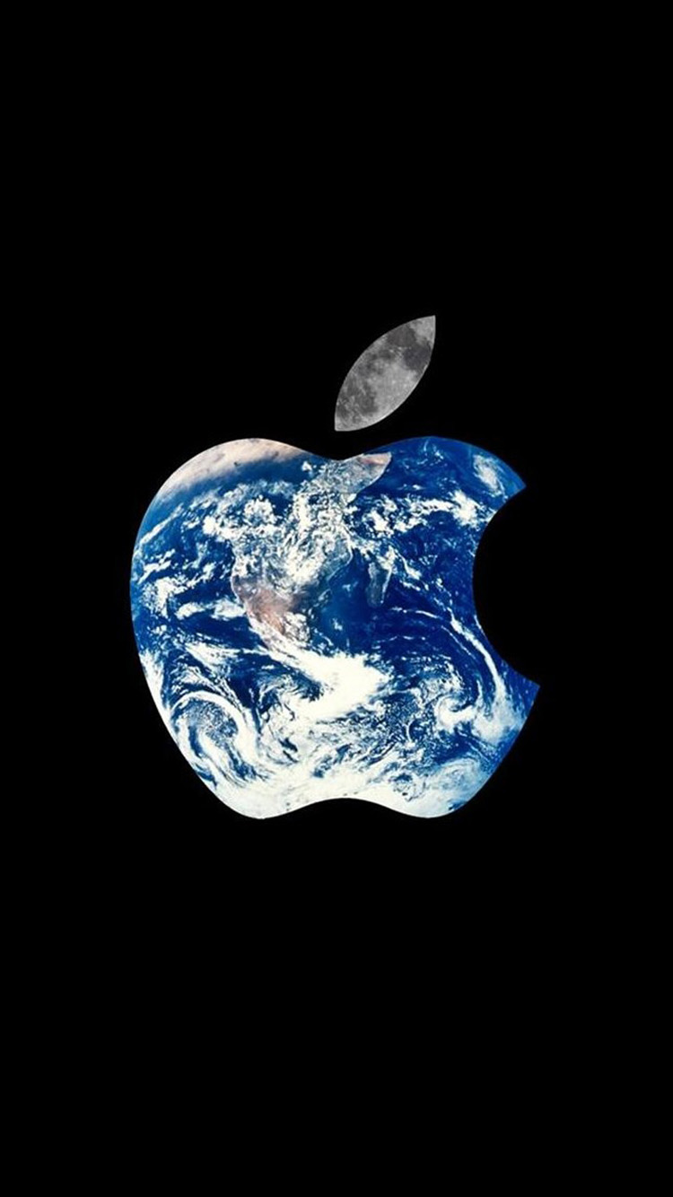 Earth Apple LOGO iPhone 6 Wallpapers HD iPhone 6 Wallpaper 750x1334