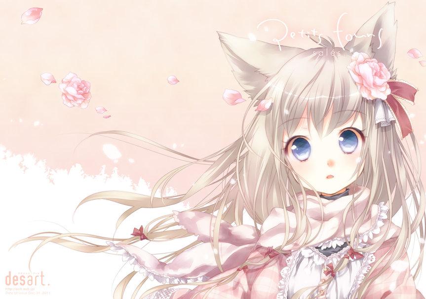 cute neko anime wallpaper wallpapersafari