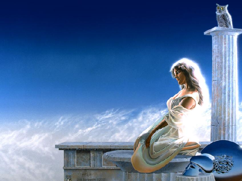 Greek Goddess Athena by Mellbell14 848x633