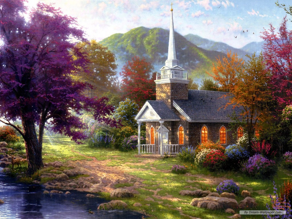 wallpaper Thomas Kinkade wallpaper 1024x768 wallpaper Index 3 1024x768
