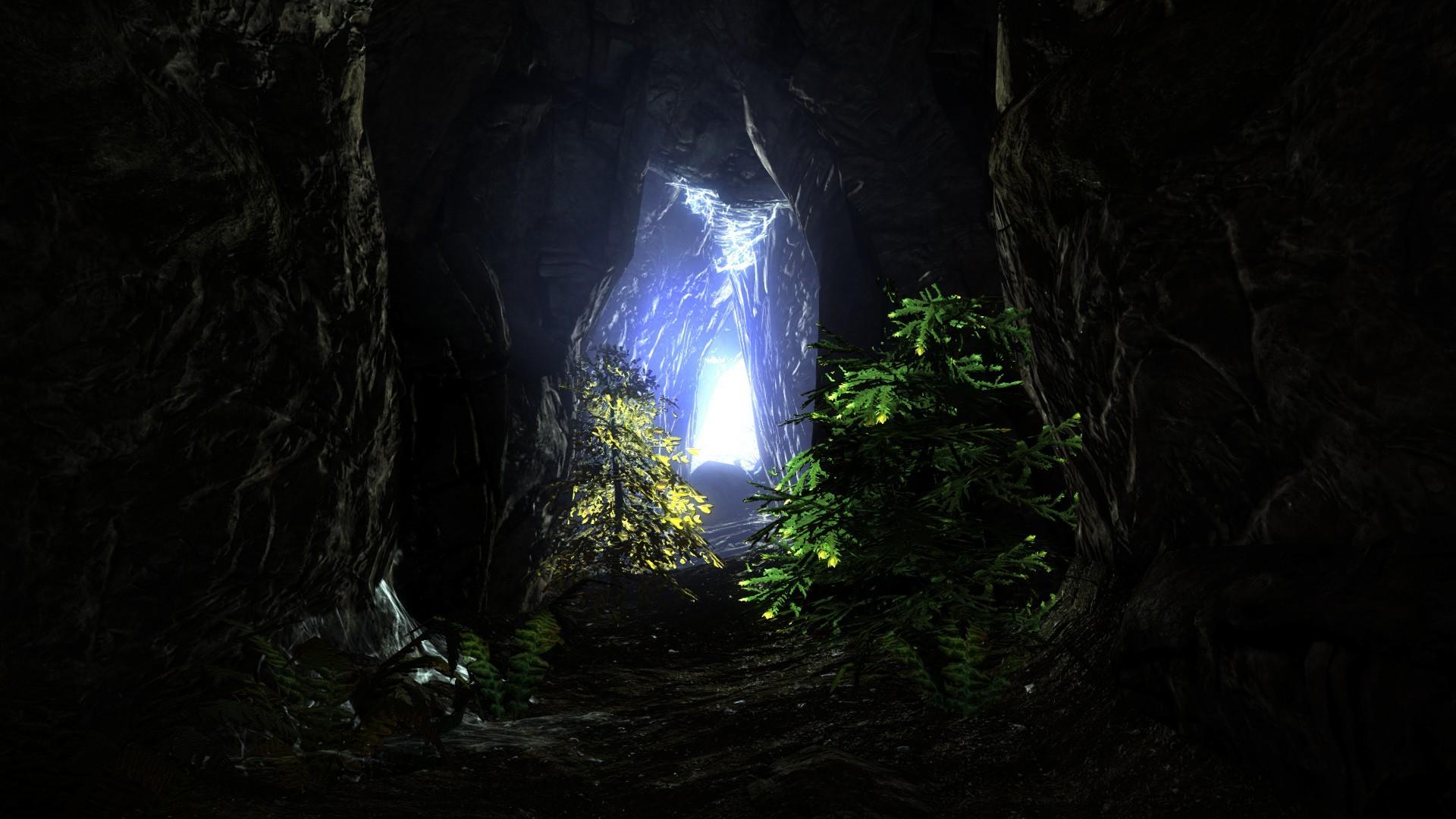 Hd wallpaper cave - Light Cave Wallpaper 1920x1080 Light Cave Tunnel The Elder
