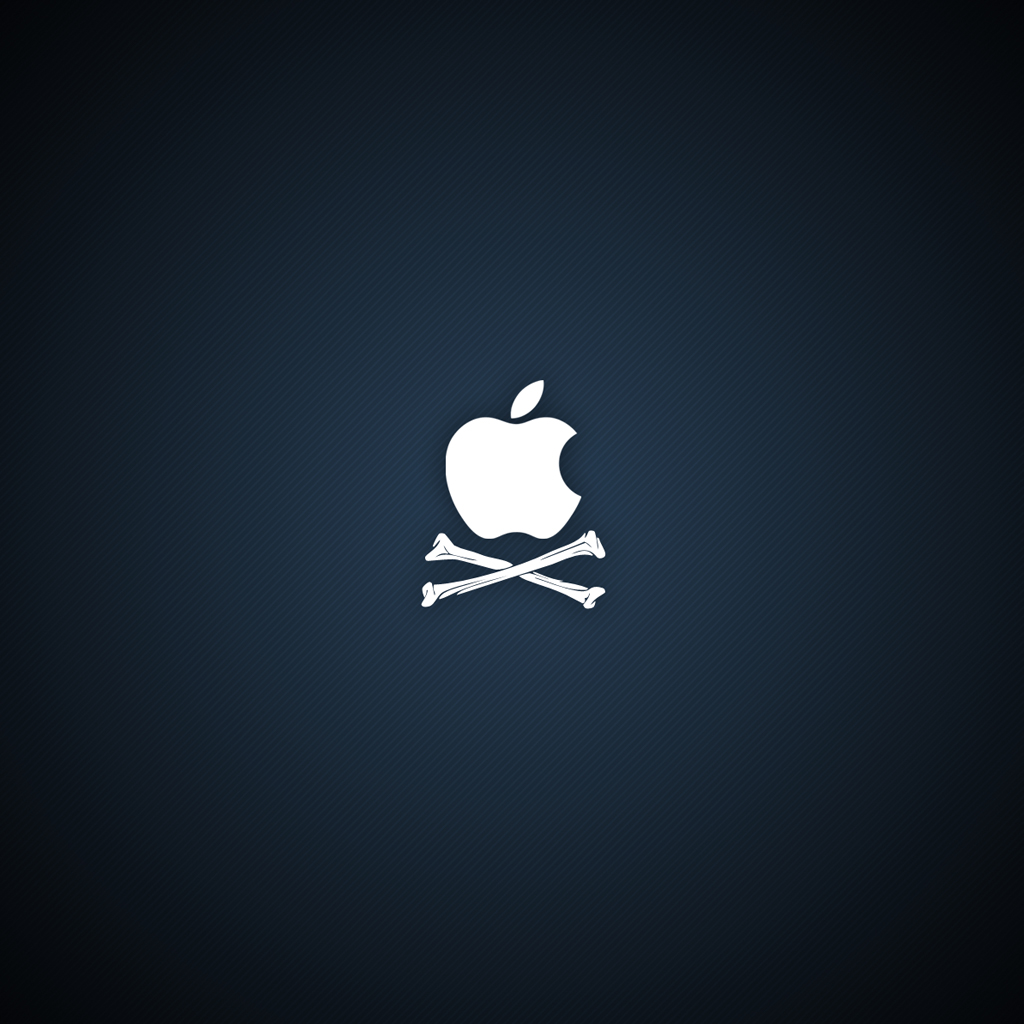 Pirate Apple Logo iPad 2 Wallpapers High Quality Wallpapers 1024x1024