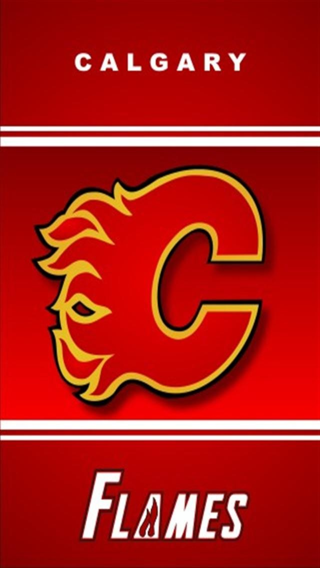 Calgary Flames Logo Sports iPhone Wallpapers iPhone 5s4s3G 640x1136