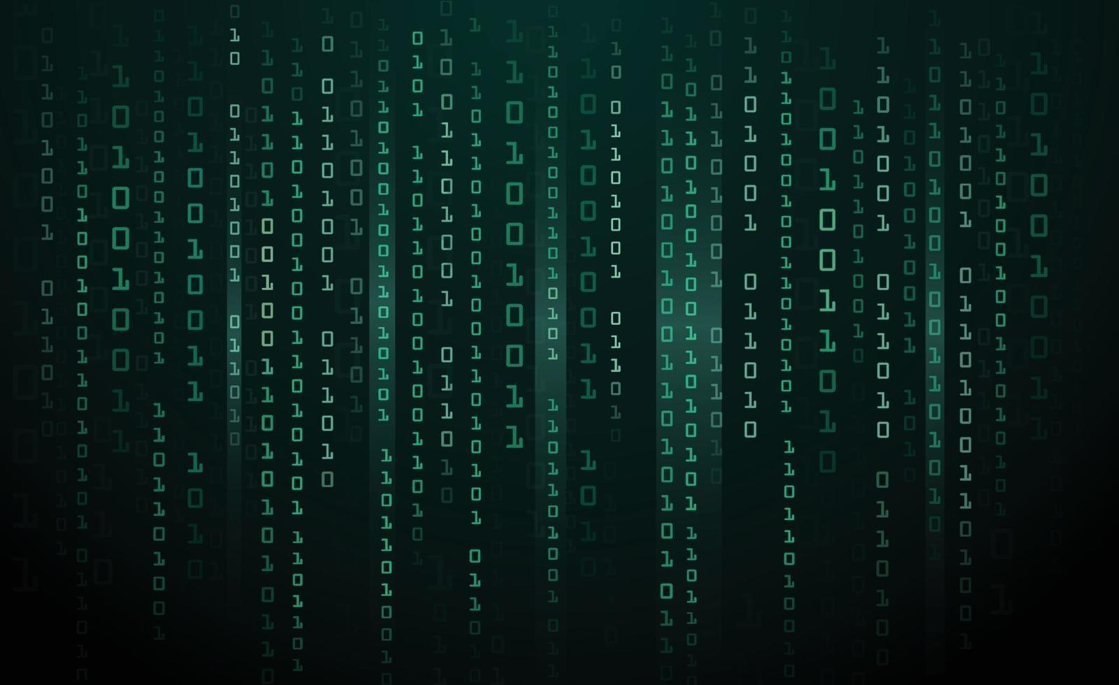 Abstract Technology Background binary data and streaming binary 1601x980