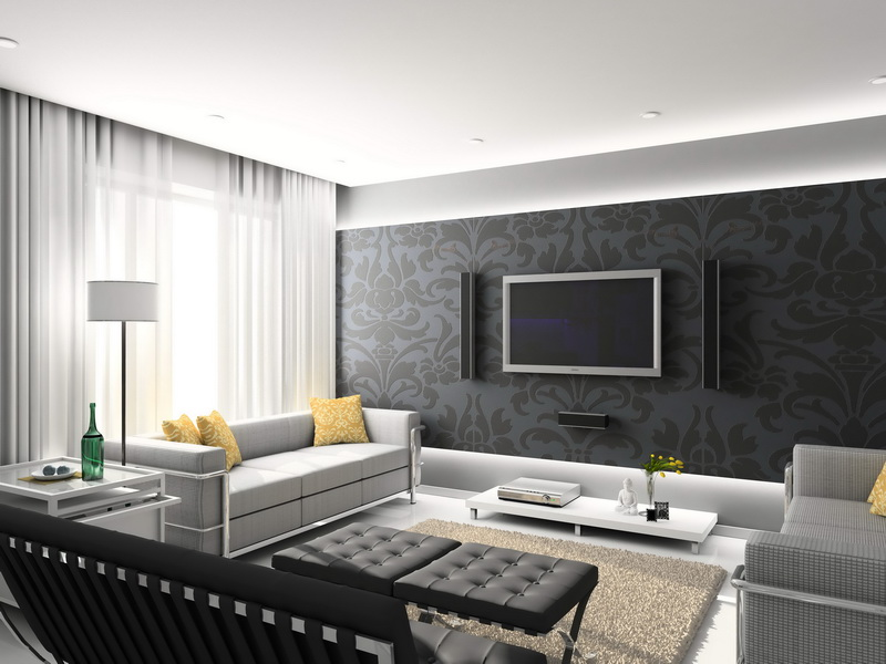 Modern Wallpaper Designs, Modern Living Room Wallpaper