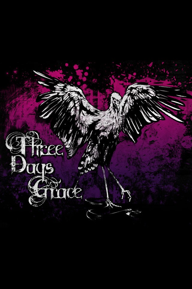 Three Days Grace music background for your iPhone download 640x960