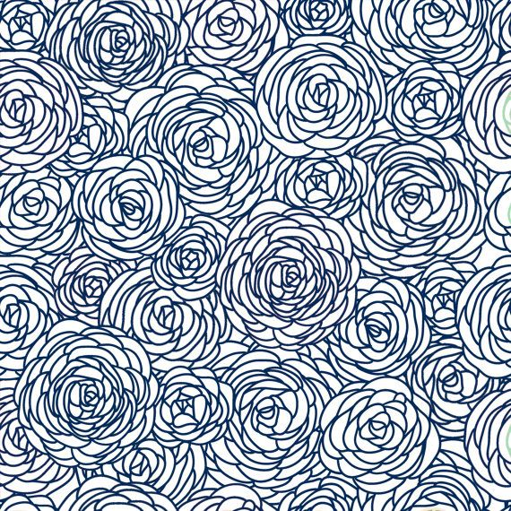 Fabric by the Yard   Navy and White Navy And White Yards and Navy 570x570
