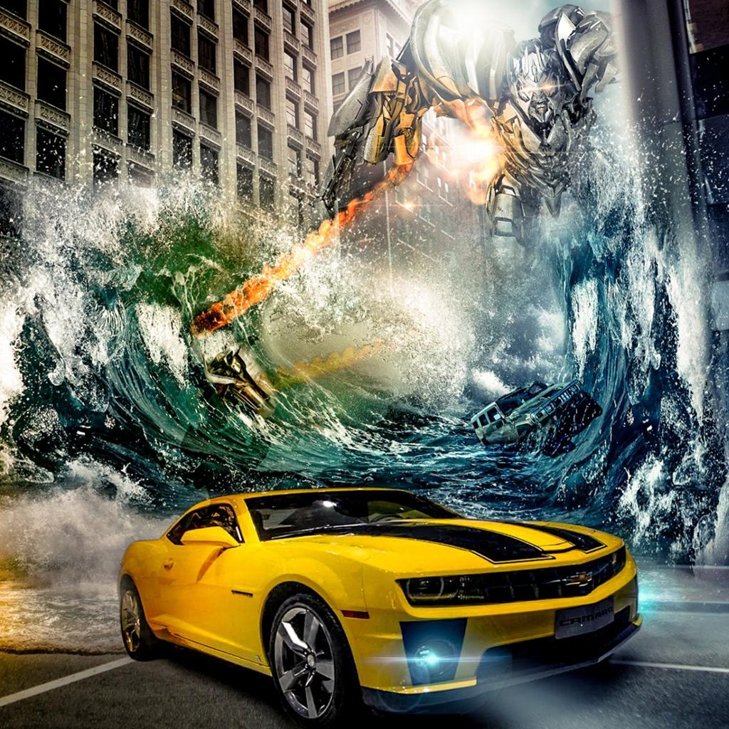 Transformers City iPad Wallpaper Download iPhone Wallpapers iPad 1024x1024