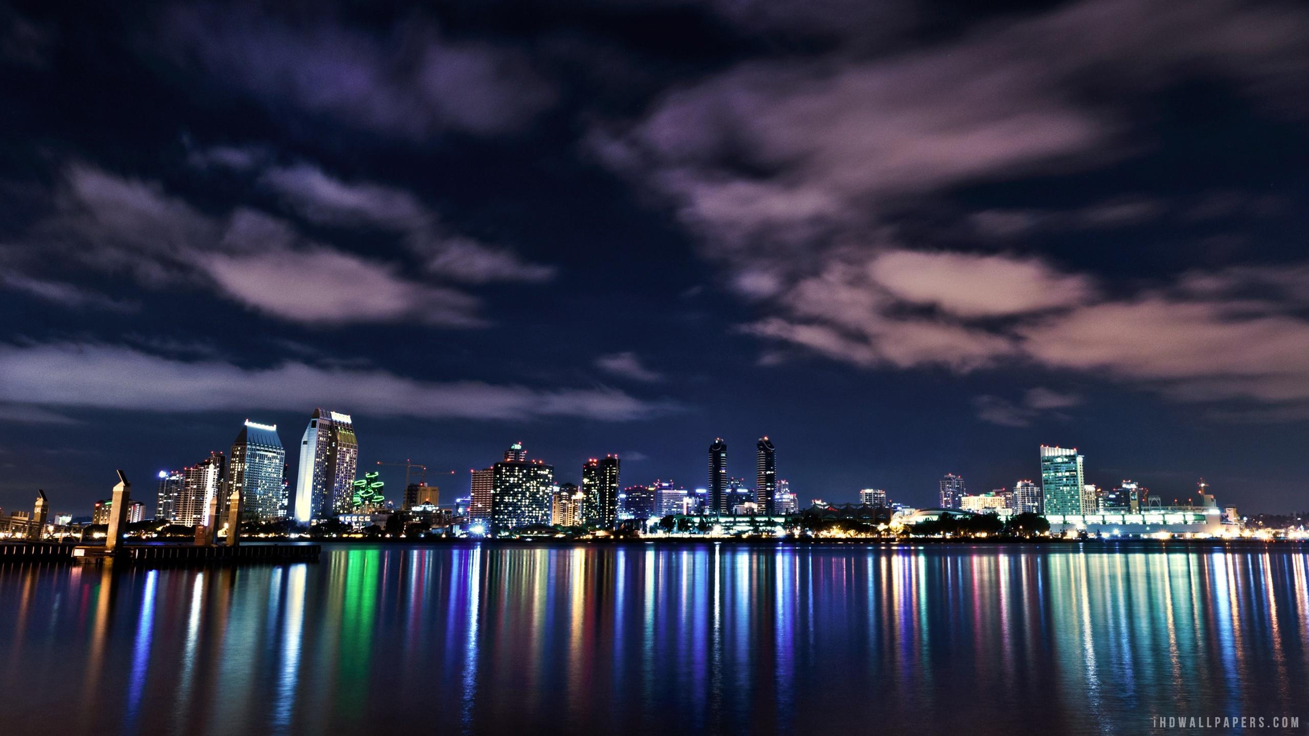 London Skyline at Night HD Wallpaper   iHD Wallpapers 2560x1440