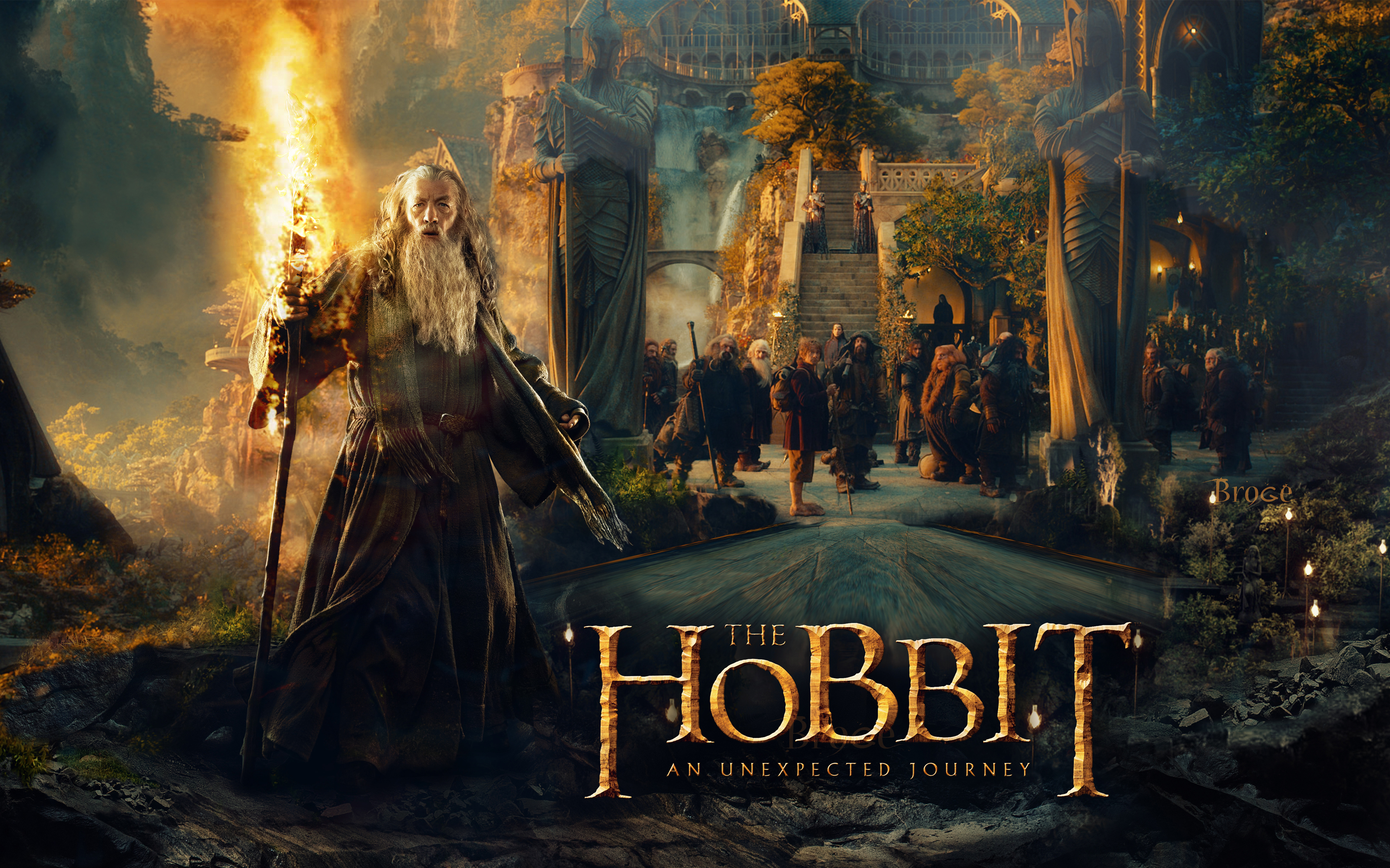 the hobbit an unexpected journey   The Hobbit Wallpaper 3200x2000