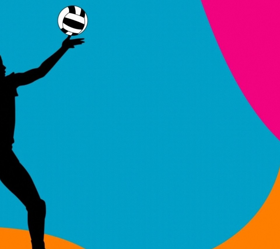 colorful volleyball ball backgrounds Colorful Volleyball Background 960x854