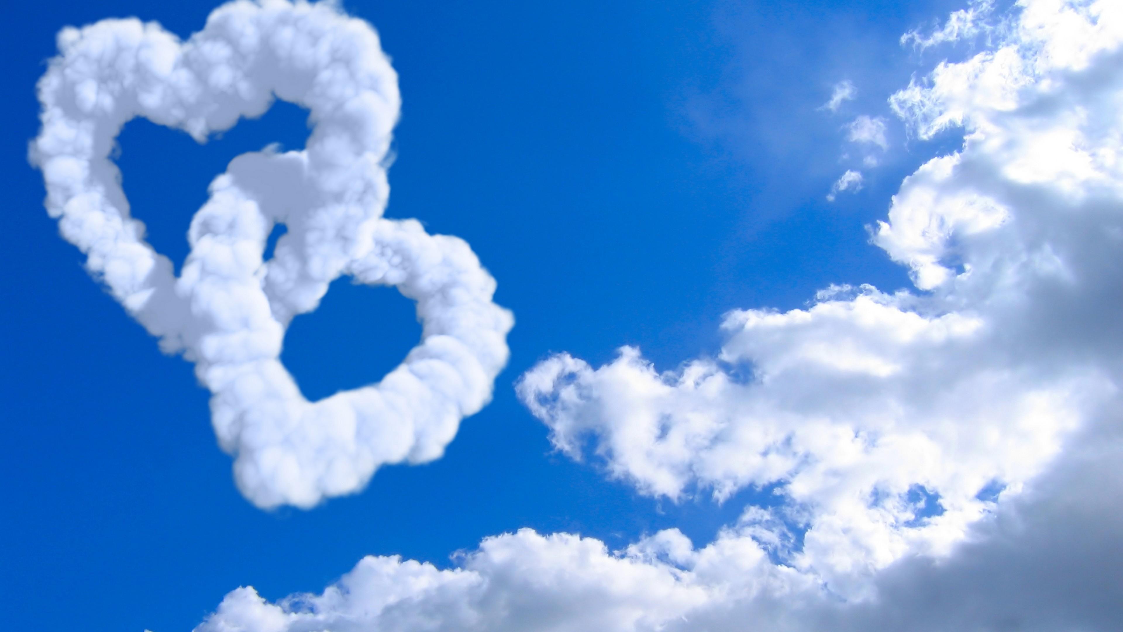 Wallpaper heart 5k 4k wallpaper 8k cloud blue sky Nature 9969 3840x2160