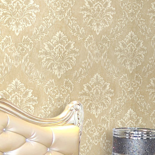 com Buy Natural Wall Paper Glitter DAMASK Floral Wallpaper Roll 500x500