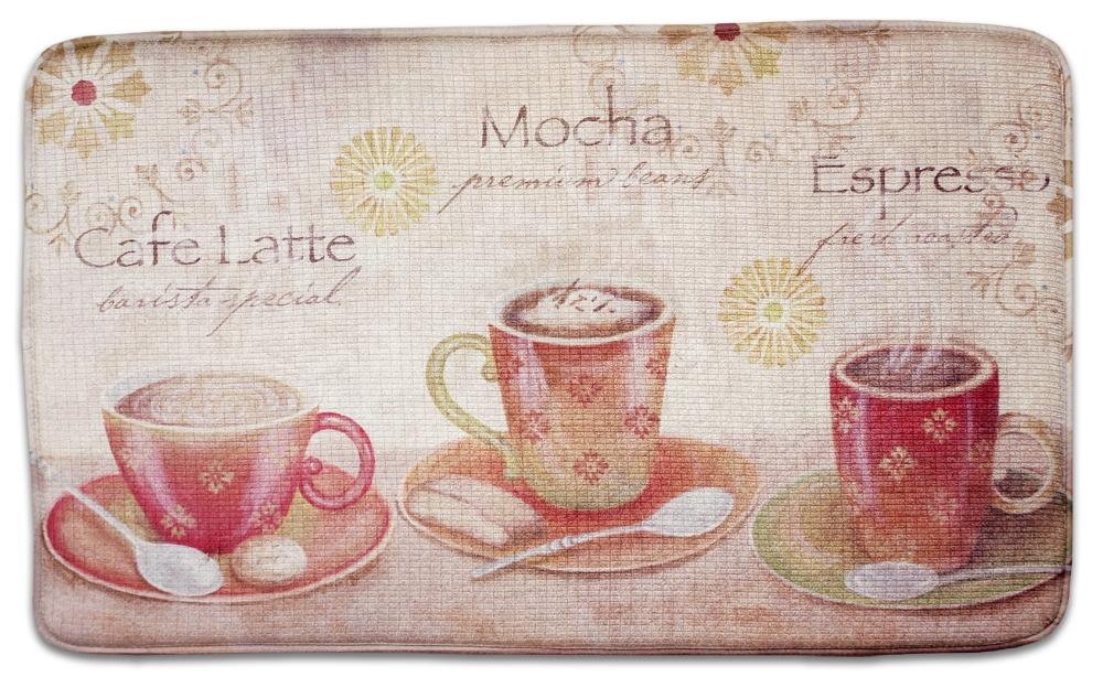 Free Download Coffee Latte Memory Foam Kitchen Rug Coffee
