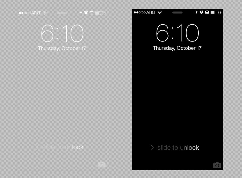 iPhone 5 5C 5S Lock Screen Background Template   PSD Blog 844x622