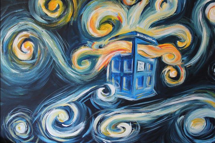 Van Gogh Wallpaper Tardis Van gogh exploding tardis by