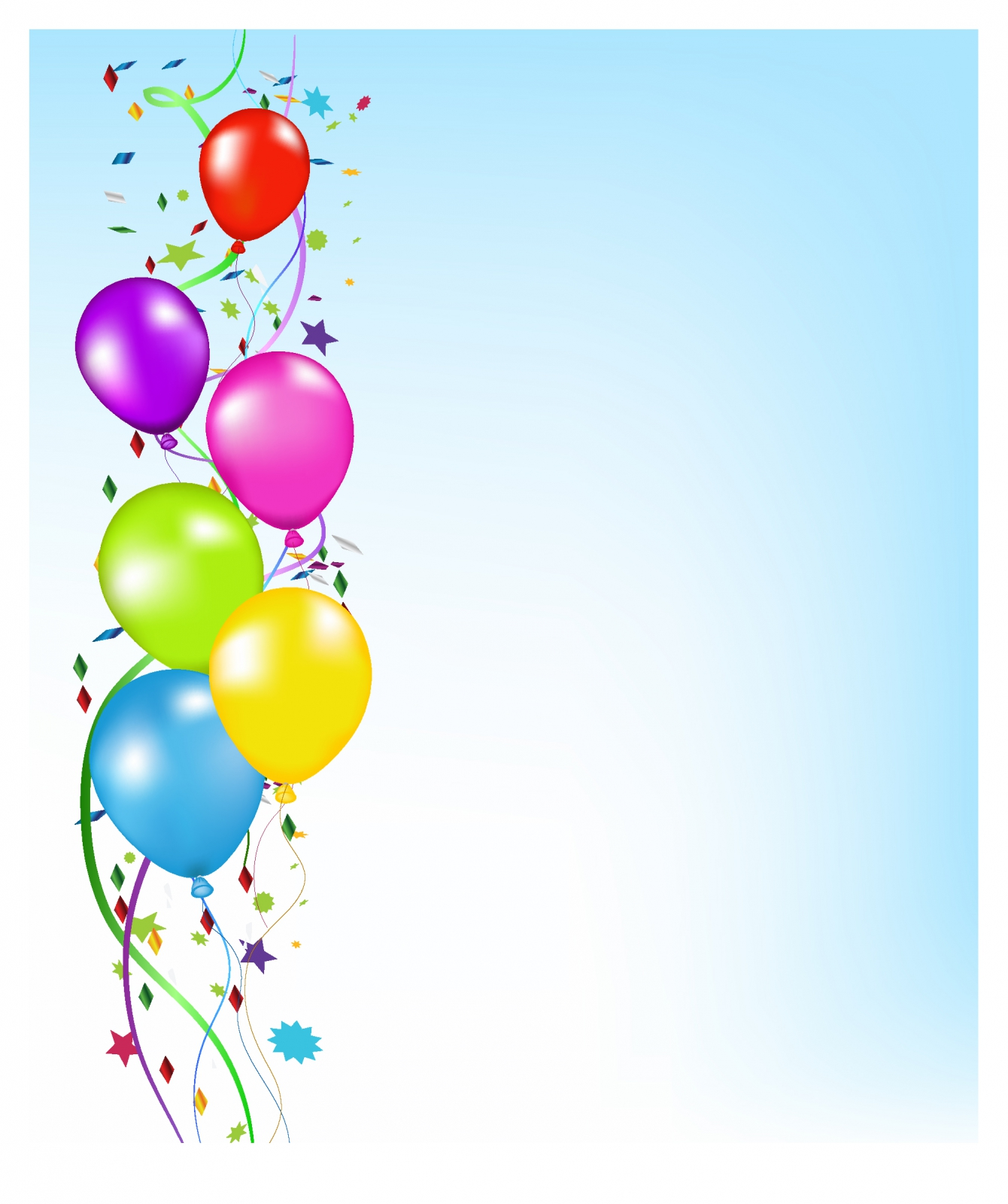 Free Download Party Balloons Background Template Album