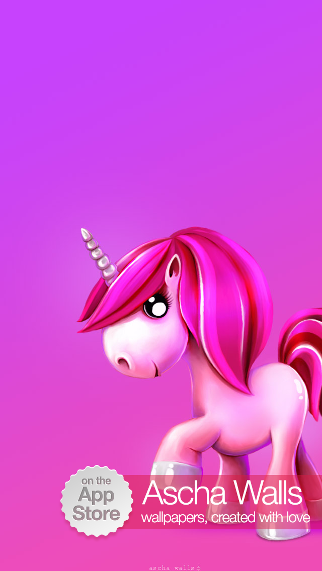 Cute Pink Unicorn IPhone Wallpaper IOS 7 640x1136