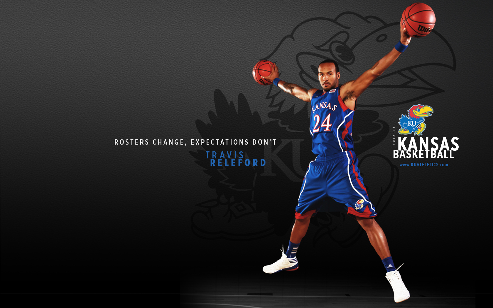 Displaying 19 Images For   Ku Jayhawks Basketball Wallpaper 1680x1050