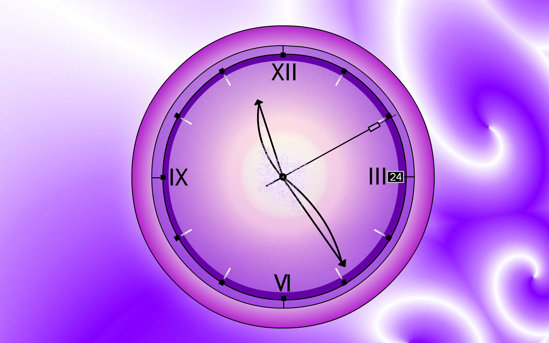 time the screen will sparkle and shine with Lacy Clock This 1920x1200