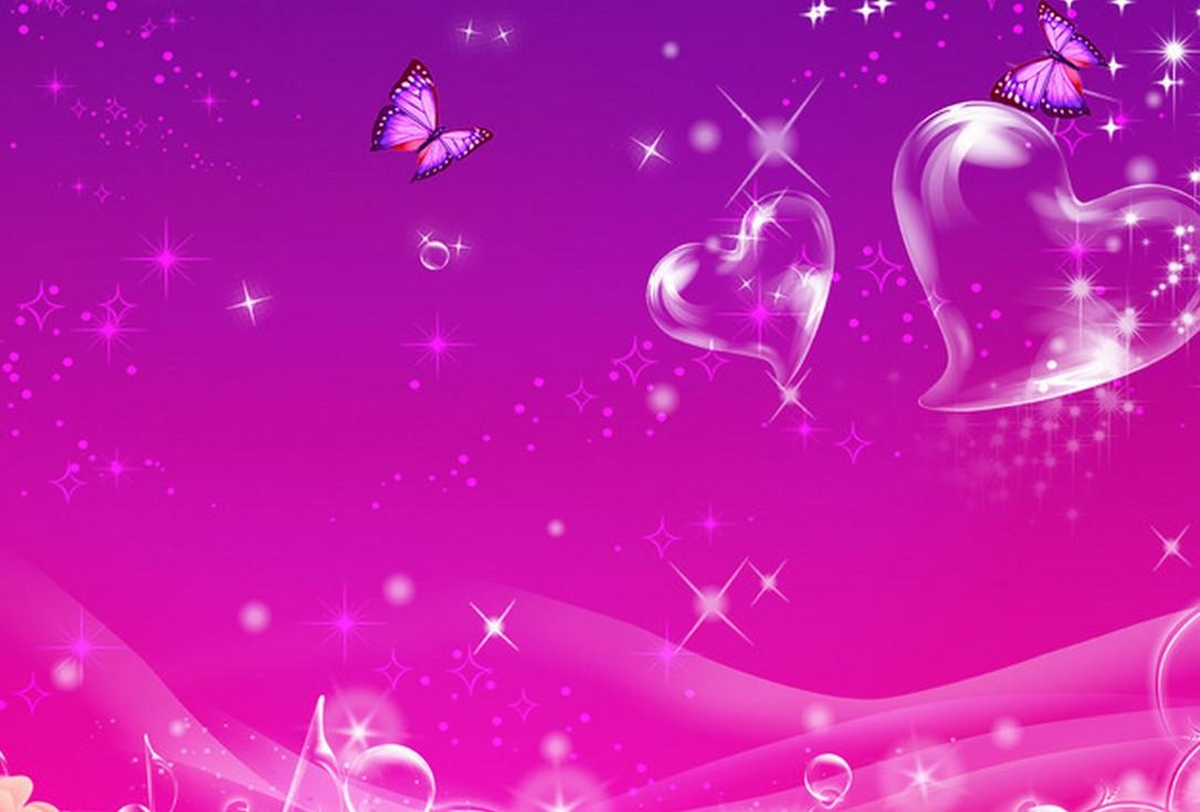 Purple And Black Hearts Wallpaper